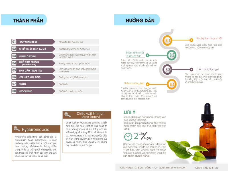 Hướng dẫn dùng bộ Kit Serum Trị Mụn Vitamin B5