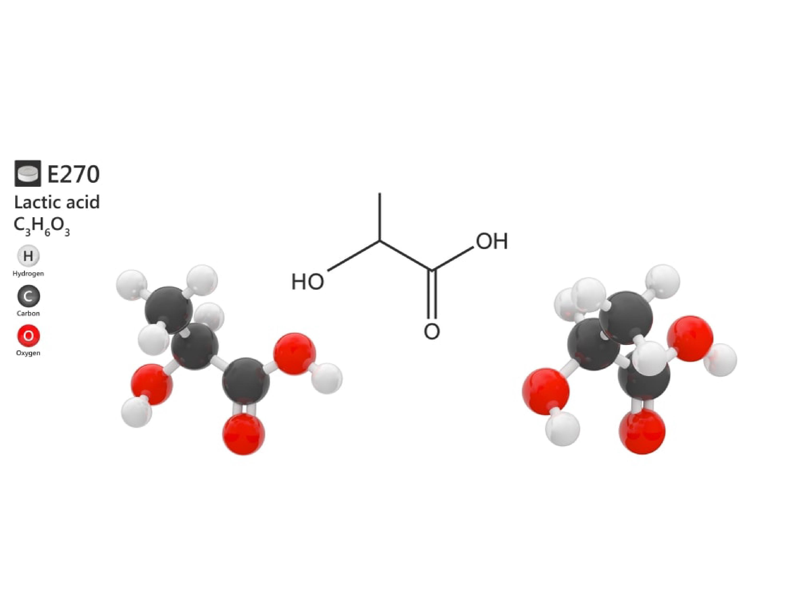 Công thức phân tử Acid lactic