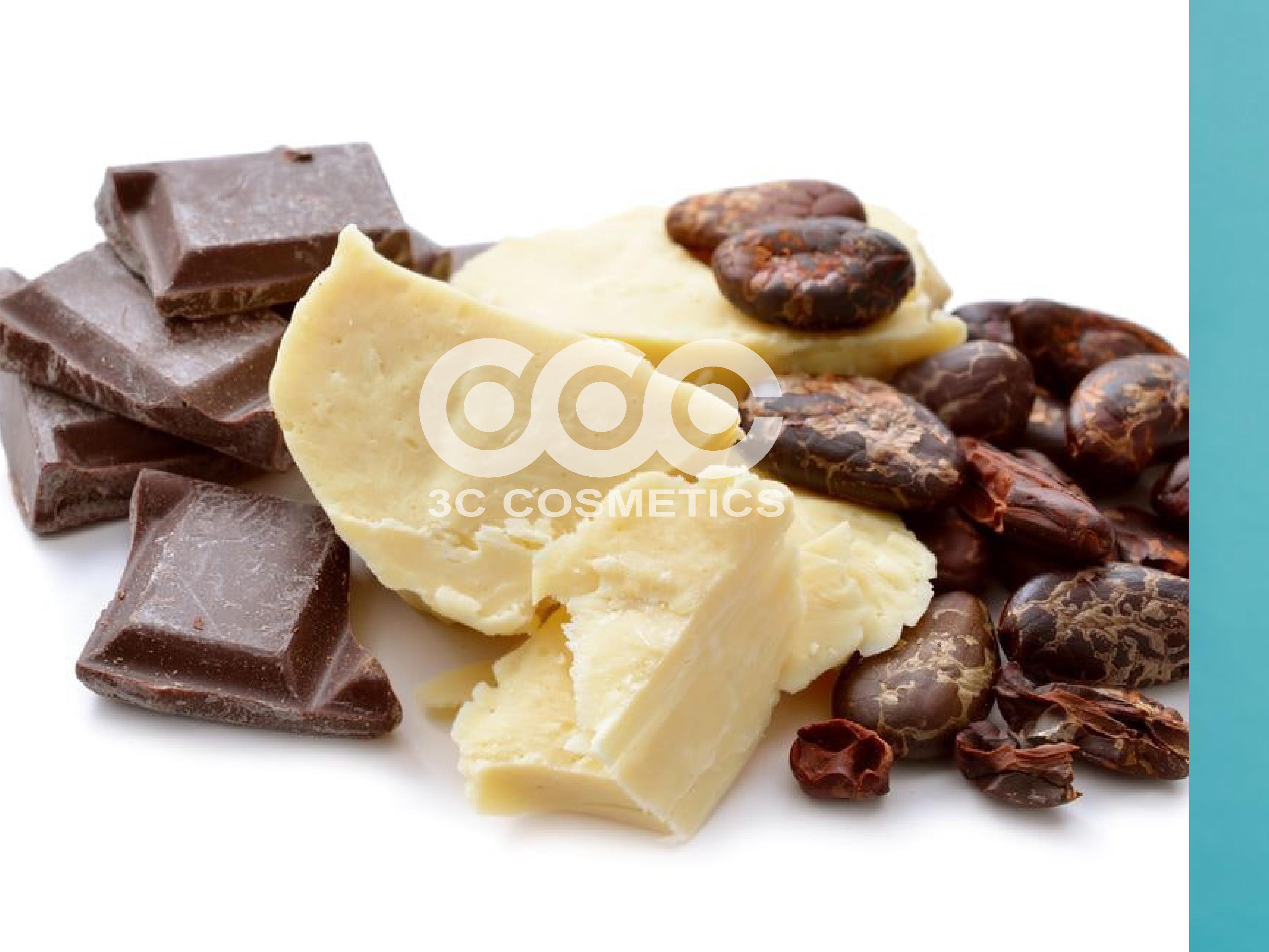 Bơ cacao màu vàng nhạt, hương thơm đặc trưng