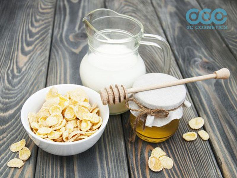 Làm trắng da với bột yến mạch + sữa tươi